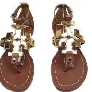 Tory Burch Pheobe logo sandal, sz 8